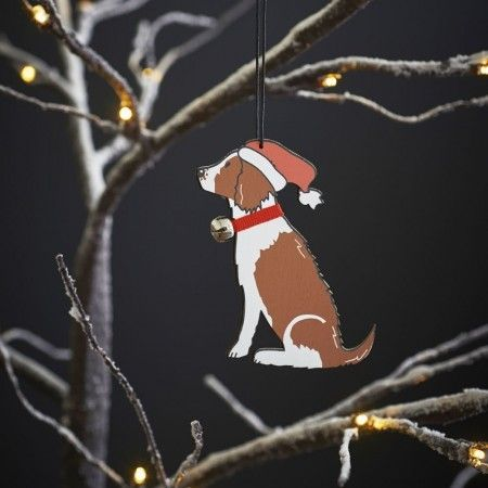 Sweet William Liver and White Springer Spaniel Christmas Decoration - £6.99