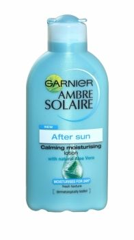 Ambre Solaire After Sun Moisturising Lotion 200ml Garnier Ambre Solaire After Sun Soothing and Hydrating Lotion with Aloe Vera extracts soothe and hydrate skin for 24 hours