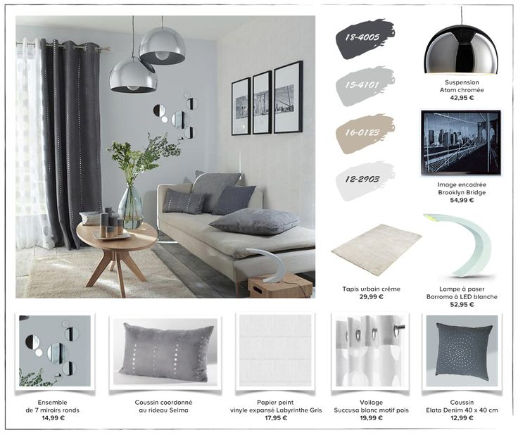 Planche de style d co pour un cocon scandinave dans la salon - Table de salon style scandinave ...