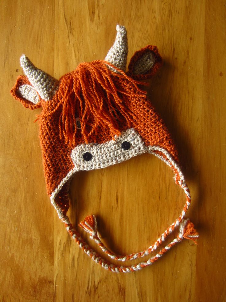 https://flic.kr/p/ebHpn7 | Highland cow hat! | A request for a not-yet-born baby in Scotland