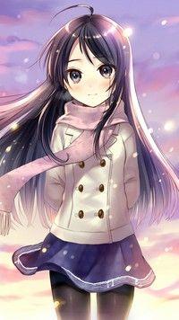 Dziewczynka i padający śnieg