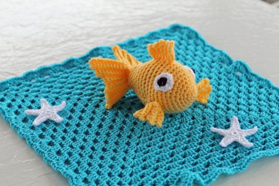 Crochet Baby Fish Lovey by TheBabyCrow