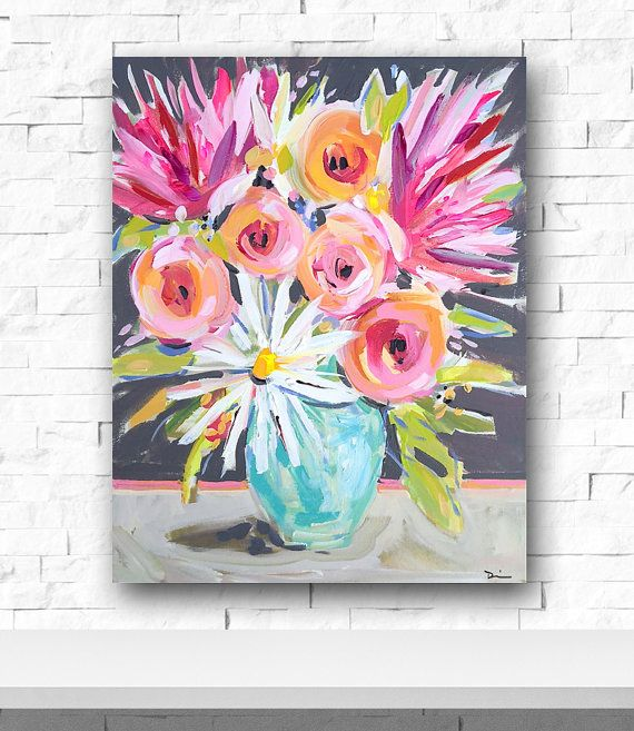 17 best ideas about Abstract Flower Paintings on Pinterest ...