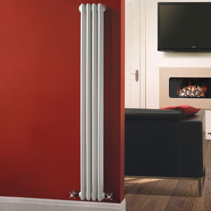 "Traditional 4 x 3 Column Radiator Cast Iron Style White 59"" x 8"" for Closed Loop Systems"