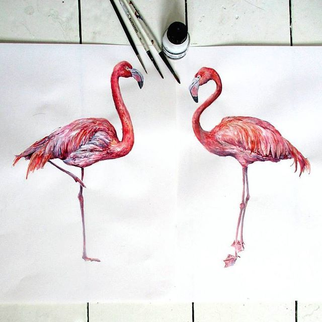 Are they real?? ❤ 💫🌸 Amazing flamingos decals by ❤ @smockballpoint #repost #mydrobby #onlineshopping #onlinebutik
