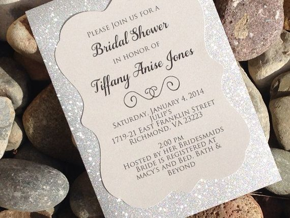 292 best invitations stationery i adore images on pinterest bridal shower invitation 25 glitter bridal by soireecustompaperco filmwisefo