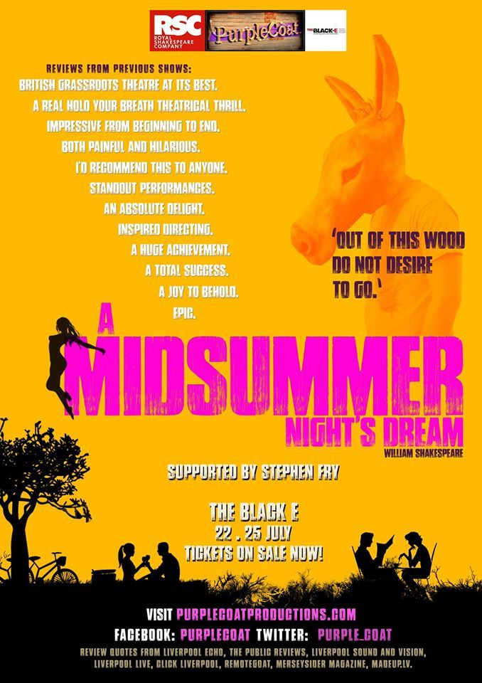 Our first Youth Theatre production, A Midsummer Night's Dream.