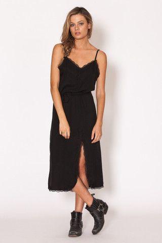 Amilita - Lyla Dress   black   lace   summer   classic   bohemian   boho   model style   Paved Paradise