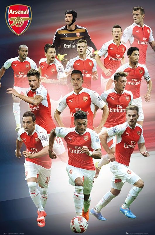 Arsenal FC Players 2015/16 Poster
