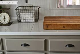 our vintage home love: Kitchen Updates - painting tile countertops