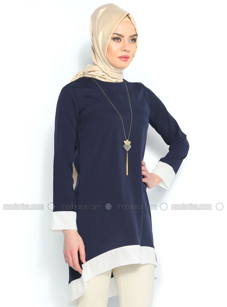 Neckleces Tunic - Navy Blue - Tunics - Modanisa