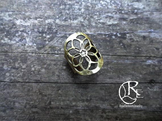 Flower of Life Ring sacred geometry geometry by RawElementsJewelry