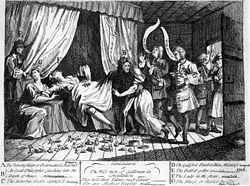 Mary Toft: Not your usual mother. One of the great conwomen of history, who became celebrated after reputedly giving birth to a litter of rabbits.