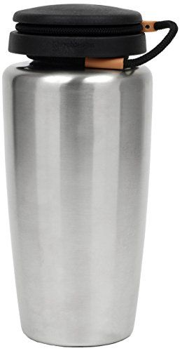 Nalgene Backpacker 32 Oz Stainless Bottle 1778-1002. Made from surgical grade 316 (18/10) stainless steel that resists tastes and odors and is easy to clean. Unlike aluminum bottles, these bottles have no lining of any kind. The wide mouth accommodates ice cubes and water filtration devices. The most versatile stainless bottle on the market. Compatible with most water fillers with its 63mm opening and standar thread pattern.