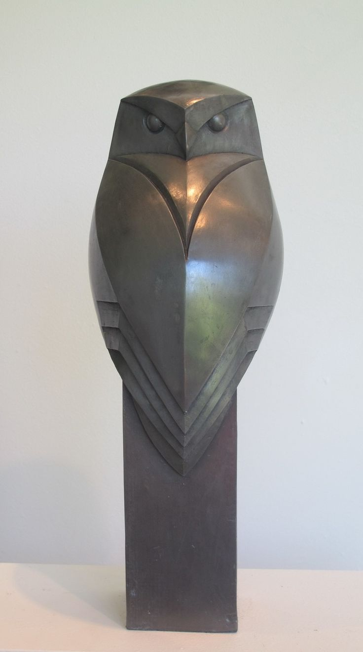 Little Owl Back cold cast pewter 34cm high £275