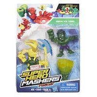 Marvel Super Hero Mashers Micro 2 Pack Action Figure - Hulk and Loki