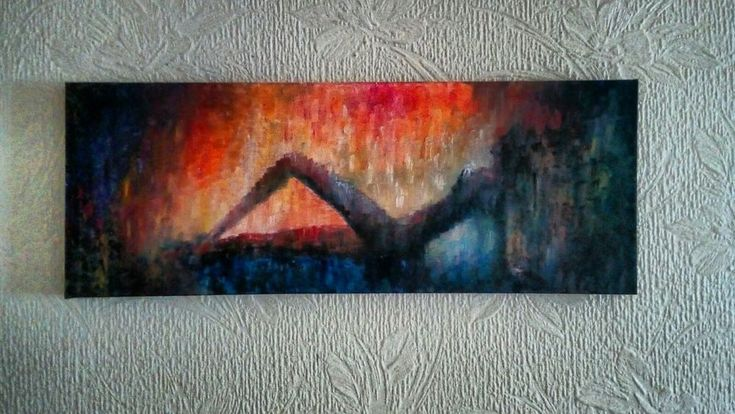 "'Reclining Nude' Original Oil Painting 36""x12""x1"""