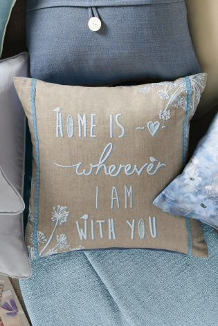 Home Is With You Cushion from Next
