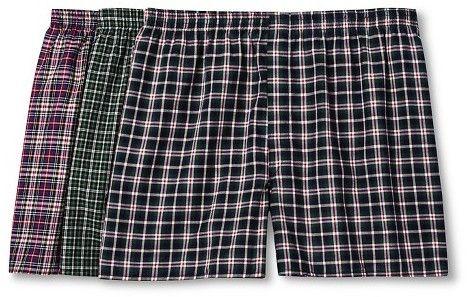 Men's Big Man Tartan Boxers - 3pk - Fruit of the Loom® Underwear