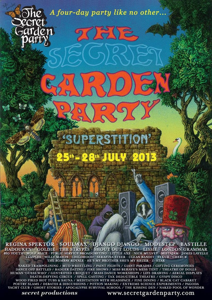 SECRET GARDEN PARTY 2013 #SGP #cantwait  #thisfestfeeling #festival