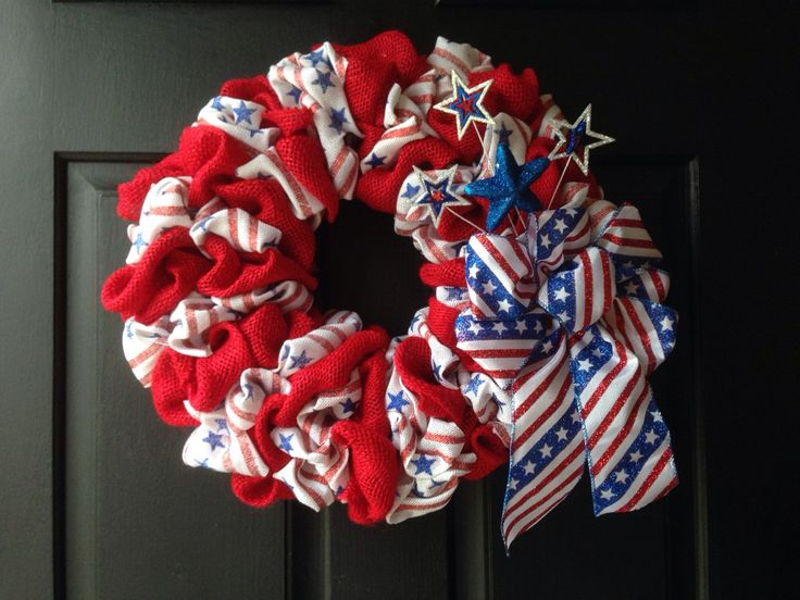 A personal favorite from my Etsy shop https://www.etsy.com/listing/291917501/anerican-flag-stars-and-stipes-burlap