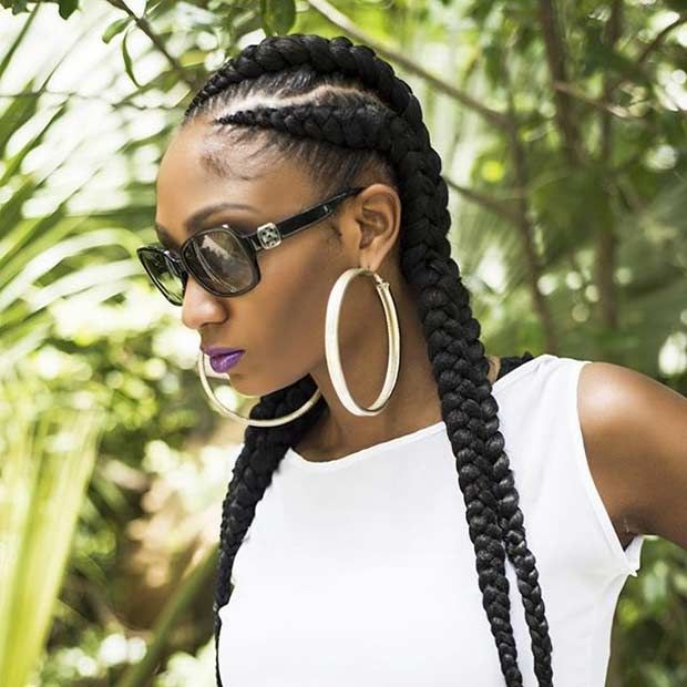Eye Catching Ghana Braid Design