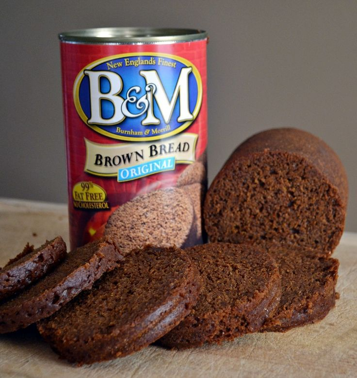 B&M Brown Bread in a Can | Classic New England Brands...my grandma would make a cream cheese spread with black olives and walnuts to go with brown bread when I was little.