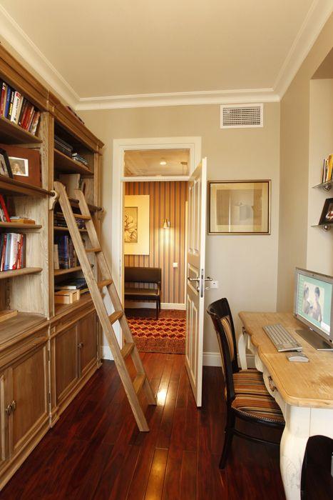 кабинет библиотека: фото дизайна интерьера - автор Selva-style