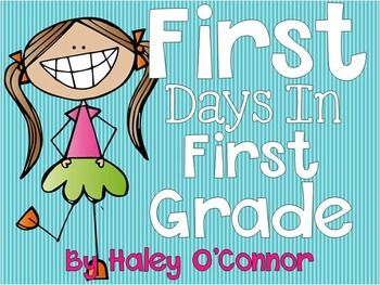 First Days in First Grade- A must have for first grade teachers to keep the kiddos engaged the first week!!