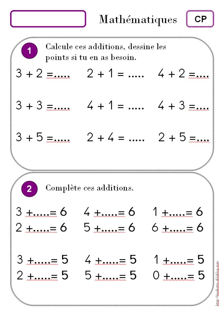 Calcul CP - Zaubette