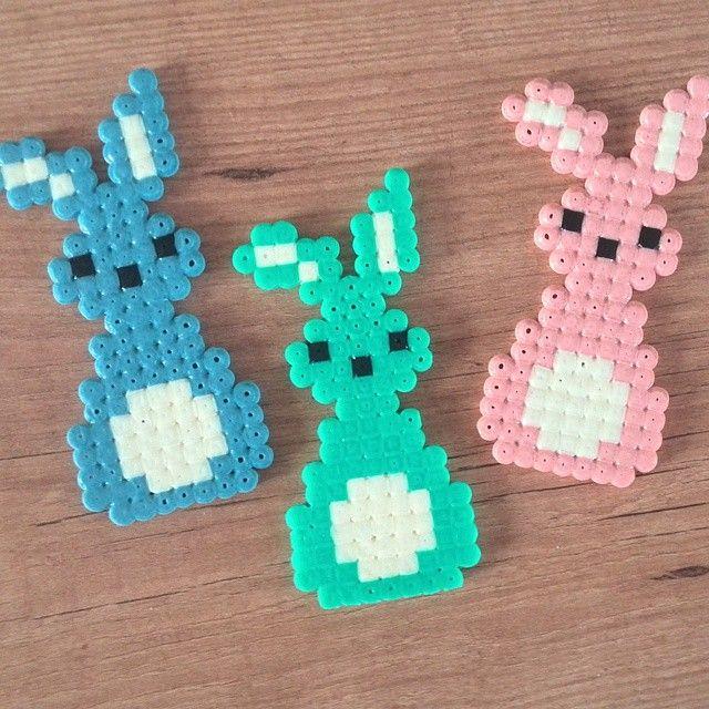 Easter bunnies hama beads by cristina_sanjose