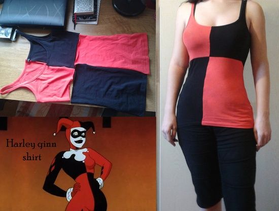 Diy harley quinn shirt costumes pinterest harley quinn diy harley quinn shirt costumes pinterest harley quinn costumes and cosplay solutioingenieria Image collections