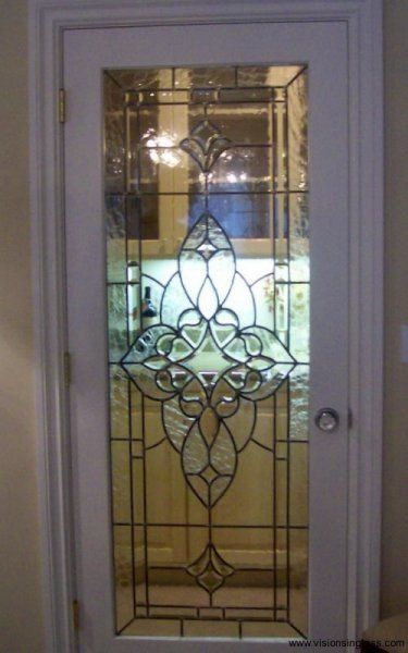 vintage beveled office doors