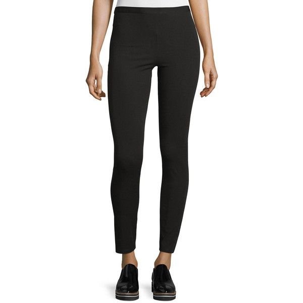 Helmut Lang Stretch Reflex Leggings ($285) ❤ liked on Polyvore featuring pants, leggings, black, cropped pants, cropped leggings, stretch leggings, straight leg trousers and legging pants