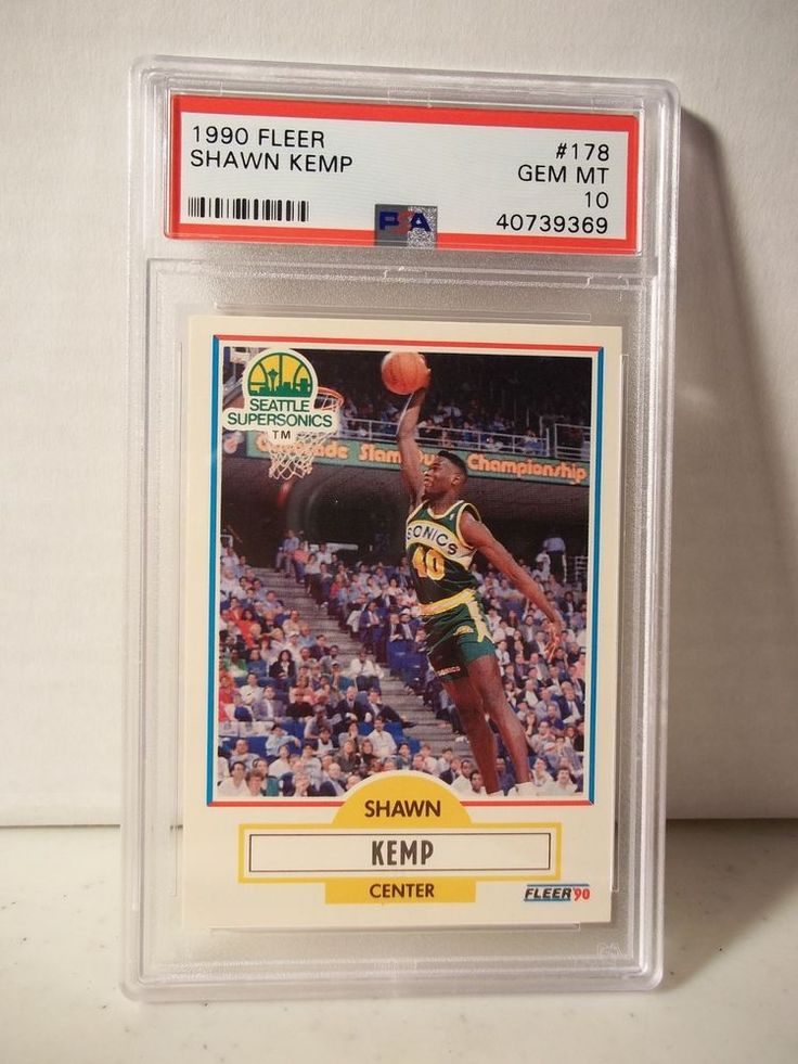 1990 Fleer Shawn Kemp RC PSA Gem Mint 10 Basketball Card
