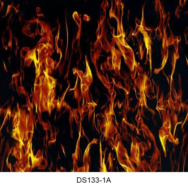 Hydrographics film flame pattern DS133-1A