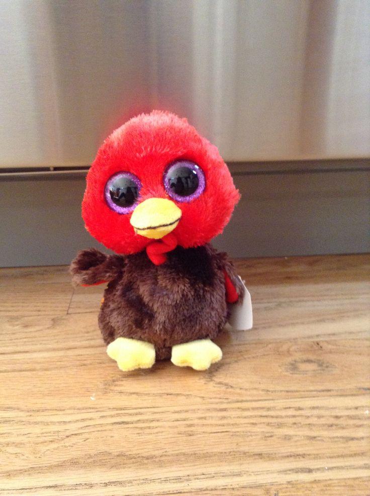 His name is Gobbles.BirthdayNov.28. Beanie boos