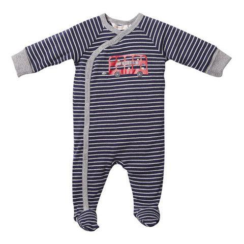 Fox & Finch Baby Britannique FW14-2126 Blue-Cream Marl Brit Striped Wr – Sweet Thing Baby & Childrens Wear #Winter #Cloth #Boy sweetthing.com.au