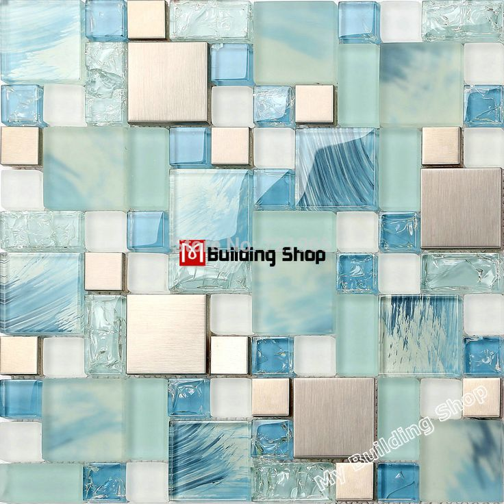 find more mosaics information about blue glass mosaic kitchen wall tile ssmt306 stainless steel metal tile