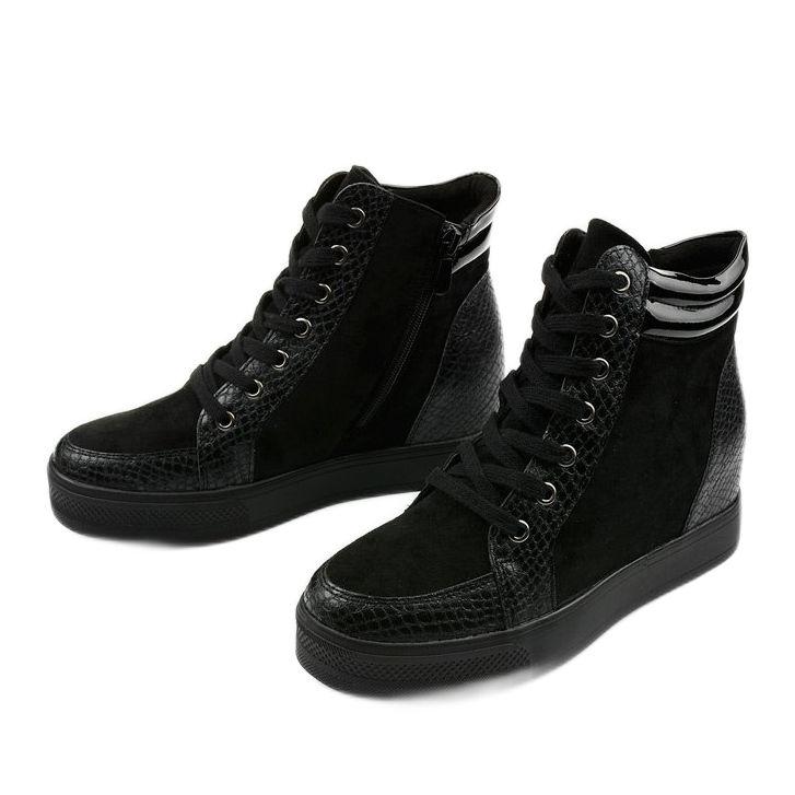 Czarne Sneakersy Na Koturnie Doreala Black Sneaker Top Sneakers High Top Sneakers