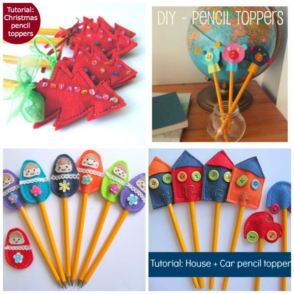 How to make felt pencil toppers.