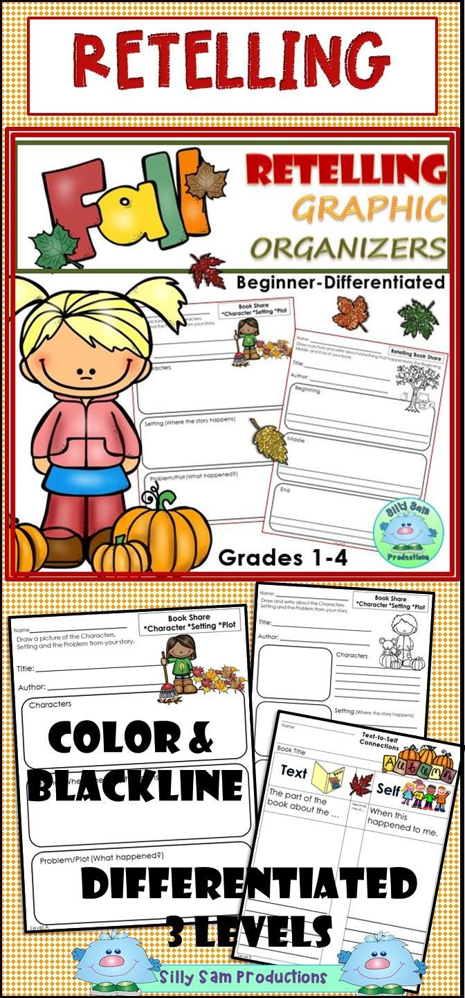 Retelling Graphic Organizers Fall Comprehension Skills Practice Graphic Organizers Reading Comprehension Graphic Organizers First Grade Reading Comprehension [ 1440 x 672 Pixel ]