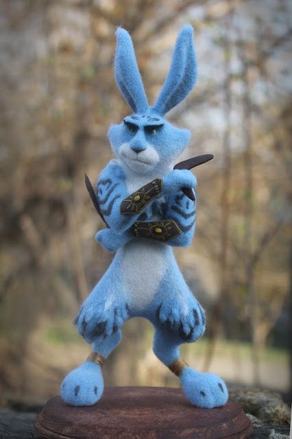 "Handmade felted toy ""Easter Guardian"" Size: 22 cm. Materials: wool, steel wire, plastic."
