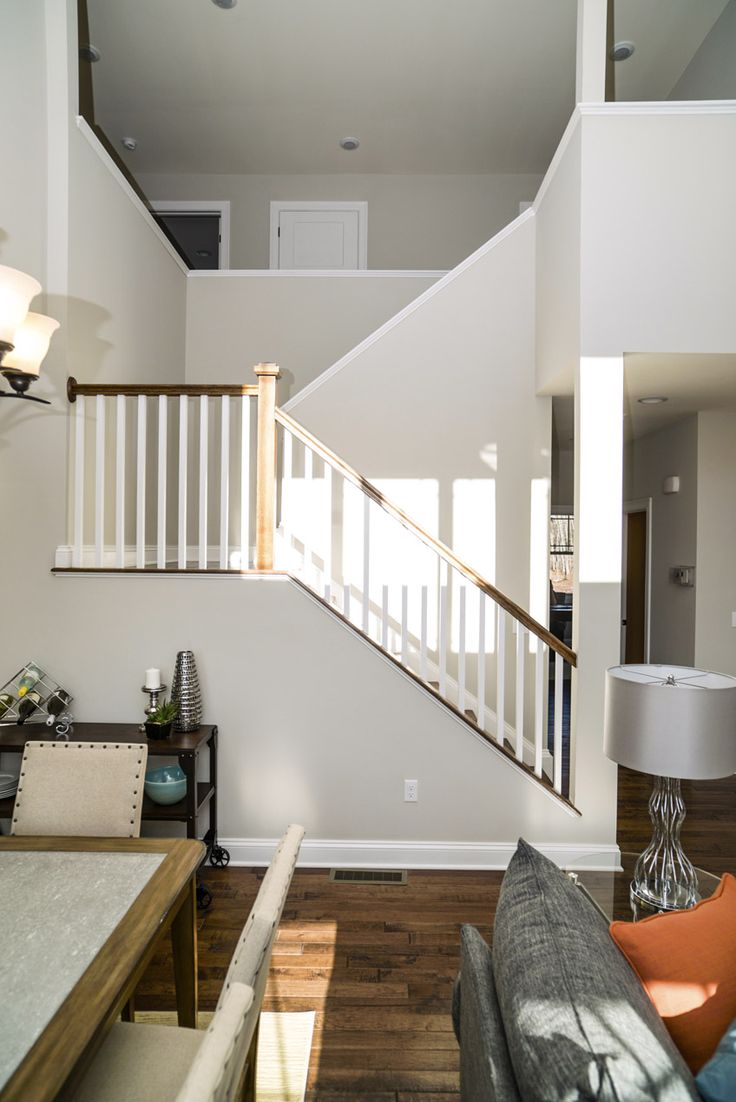 Open stairway to the Dayton models upstairs bedrooms.
