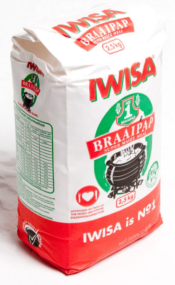 Iwisa braai pap - a South African maize product.
