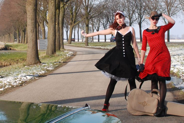 #hitckhike #vintage #retro #dress www.attitudeholland.nl #rockabilly #fities