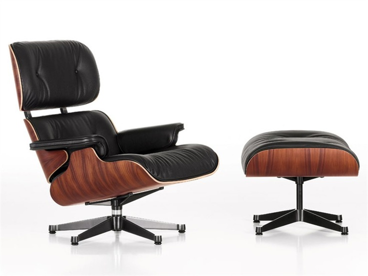 Leather Armchair LOUNGE CHAIR by @Vitra Furniture Furniture | Design Charles & Ray Eames (1956)