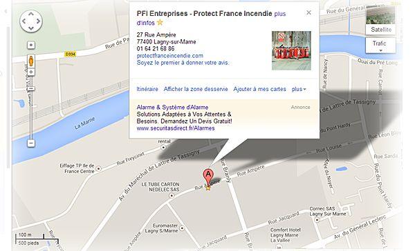 Nos coordonnées !  PROTECT FRANCE INCENDIE  27 rue Ampère 77400 LAGNY SUR MARNE Tél : 01 64 21 68 86  Tél : 01 60 08 45 40 Fax : 01 64 21 68 86 Découvrez tous nos produits...