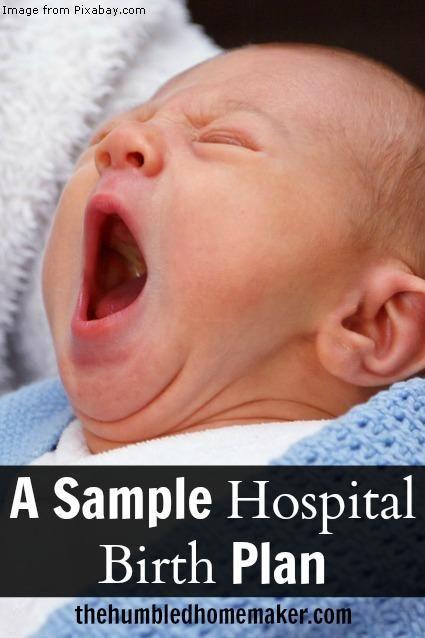 A Sample Hospital Birth Plan - TheHumbledHomemaker.com