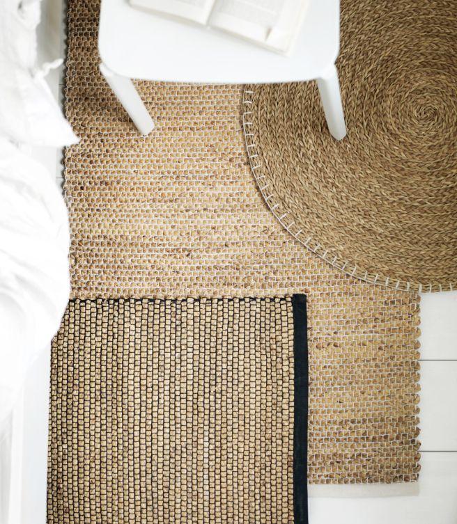 Snygga mattor av förnyelsebara naturmaterial från Ikeas kollektion NIPPRIG // Skanska Nya Hem